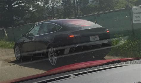 Tesla Silicon Valley Black Tesla Model 3 Release Candidate Spotted Driving In