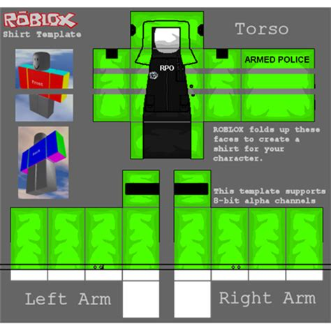 rpo armed police high vis jacket roblox