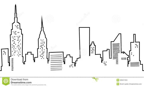 Cartoon Tattoo New York | cartoon manhattan skyline cartoon skyline of new york