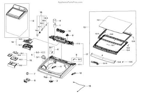 samsung washer parts samsung dc97 18845a assy lid t c wa8700j wa5 appliancepartspros
