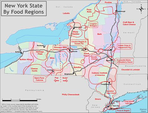 map of state of new york new york state food regions map all albany