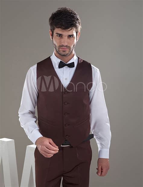 Blouse Rub 204 fashion brown satin buttons v neck tailored wedding groom
