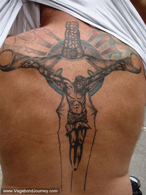 jesus tattoo on cross 80 stylish cross tattoos on back