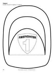 fireman hat template printable firefighter hat craft clipart best