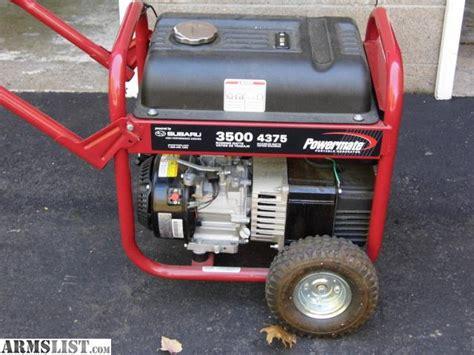 armslist for sale trade coleman subaru generator