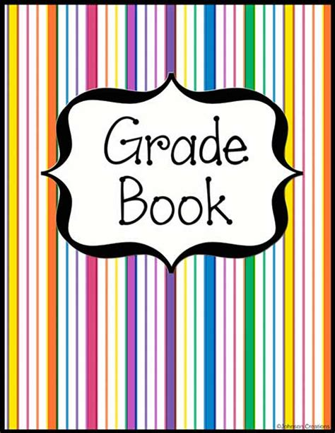 gradebook cover johnson creations grade book and lesson plans book covers