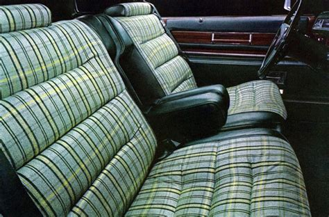 Plaid Automotive Upholstery Fabric by 1976 Cadillac Interior Trim