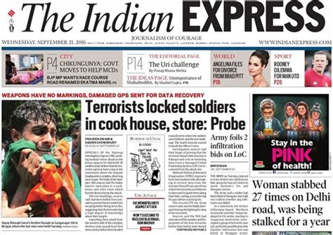 layout of indian express newspaper writeback nia has not denied any of indian express s