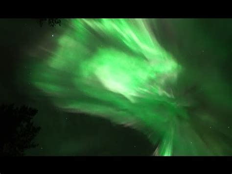 real time northern lights aurora borealis  time lapse