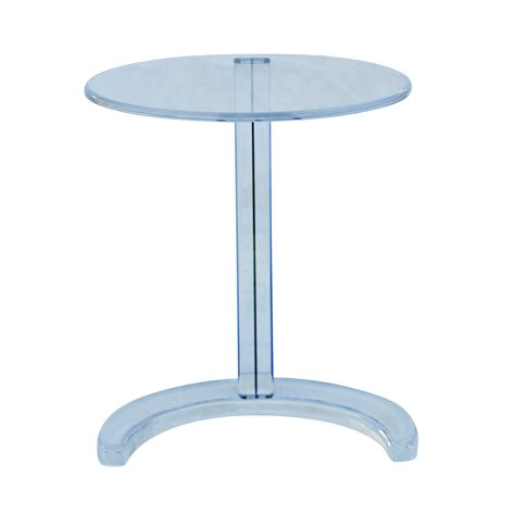 Acrylic Side Table Blue Acrylic Circular Nesting Side Tables Ebay