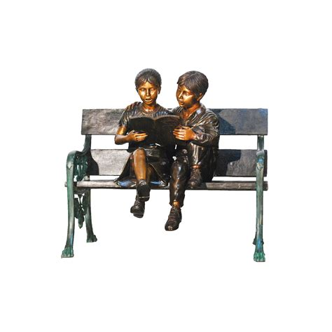 bronze bench cast bronze children reading on bench metropolitan
