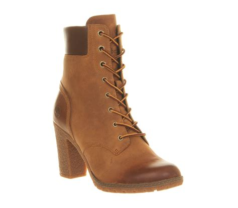womens high heel timberland boots womens timberland glancy 6 inch heel boot wheat boots ebay