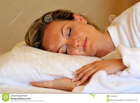 woman sleeping in bed young woman sleeping in her bed stock photo image 14350300