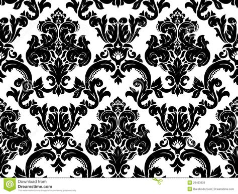 vector seamless damask pattern stock  image