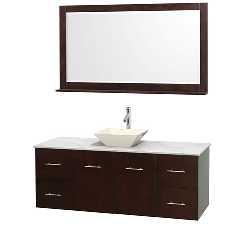 60 Inch White Bathroom Vanity Wyndham Collection Wcvw00960sescmd2bm58 Centra 60 Inch Single Bathroom Vanity In Espresso White