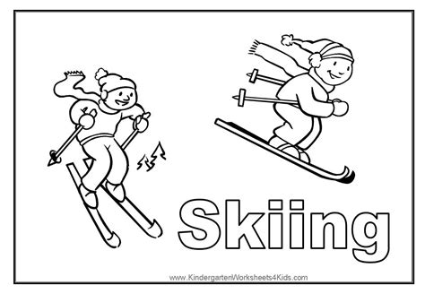 Sport Coloring Pages Skiing Coloring Pages