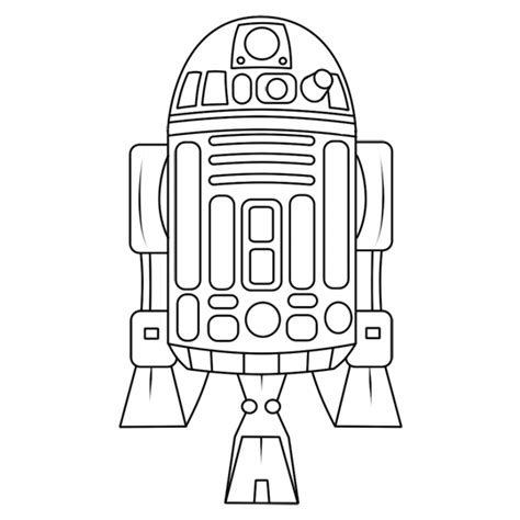how to draw r2d2 from star wars