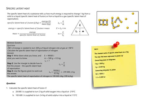 Specific And Latent Heat Worksheet Answers
