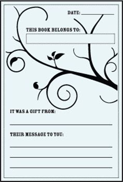 free bookplate template the world s catalog of ideas