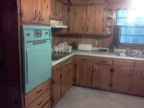 Update White Kitchen Cabinets by Trying To Respect The Knotty Pine Kitchen