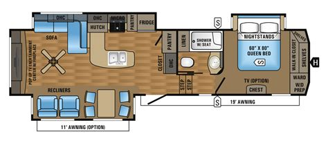 5th Wheel Floor Plans | 2017 eagle fifth wheel floorplans prices jayco inc