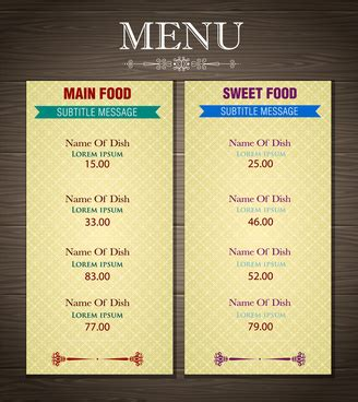 menu card design ai free vector 59 738 free