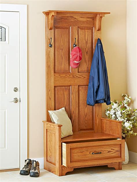 Entryway Bench Plans Woodworking paneled entry bench woodworking plan from wood magazine