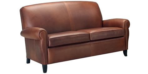 apartment size two seat leather sofa collection club