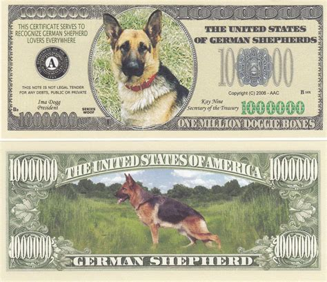 bills dogs 10 german shepherd k9 novelty money bills note lot ebay