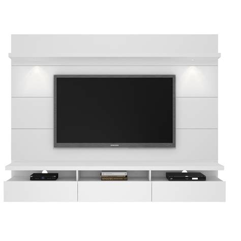 floating entertainment center cabrini white gloss 2 2 floating wall theater