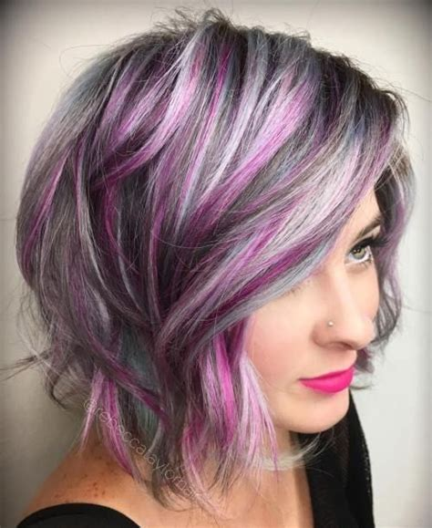 hairstyles purple highlights 25 best ideas about purple highlights on pinterest