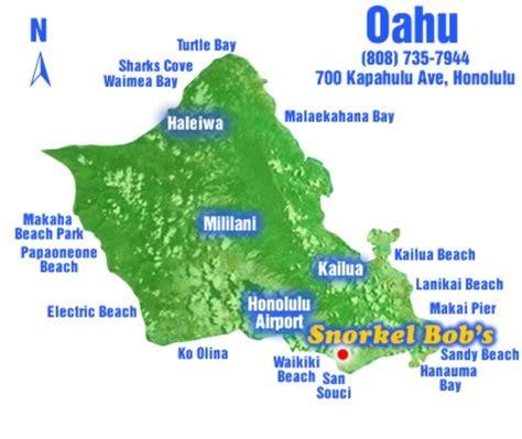 bob locations map oahu snorkel snorkel bob s