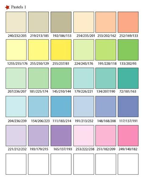 pastel colors list pastel swatch image source malgorzata
