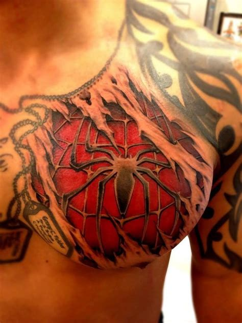 spiderman tattoo designs chest designs ideas and meaning