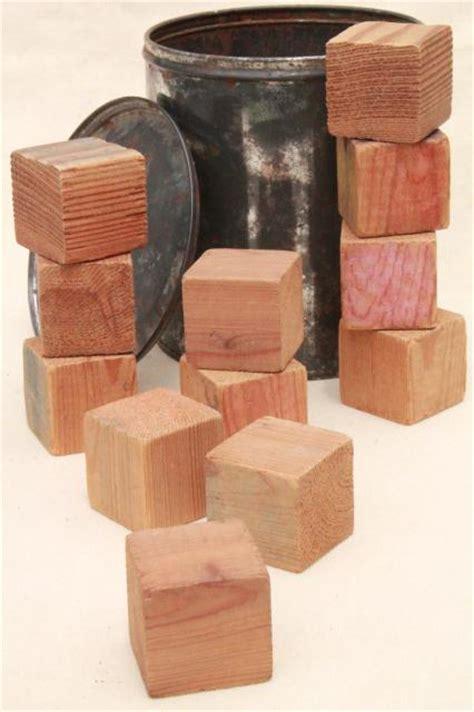 Handmade Wooden Blocks - plain primitive handmade wooden blocks 1930s depression