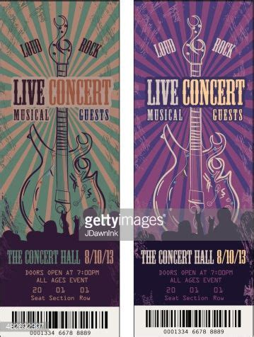 illustrator ticket template best 25 concert ticket template ideas on