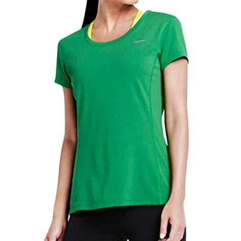 Kaos Wanita Hijau jual nike as dri fit contour ss kaos olahraga wanita hijau 644695 380 harga
