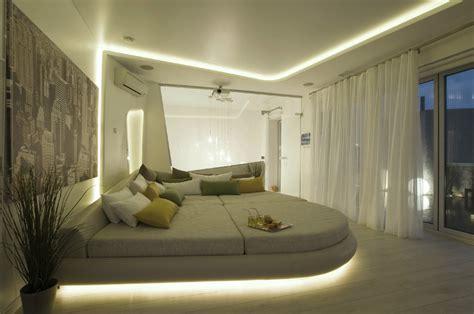 futuristic bed futuristic penthouse with twin toilets