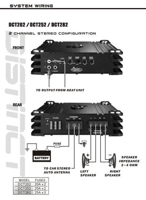 2 channel wiring diagram lanzar dct252 3000 watt 2 channel fet class ab lifier car electronics