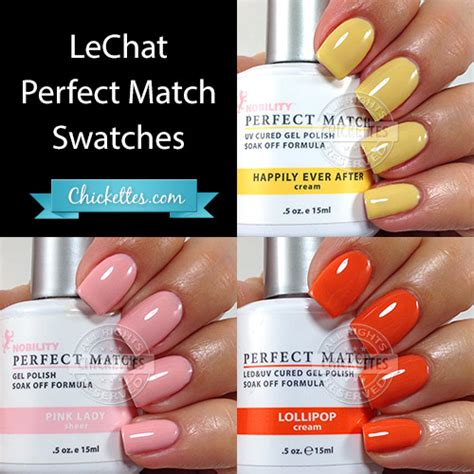 perfect match colors lechat perfect match spring shades chickettes soak off