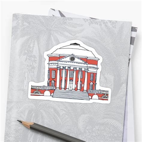 uva colors quot uva rotunda color quot stickers by maddyluehr redbubble