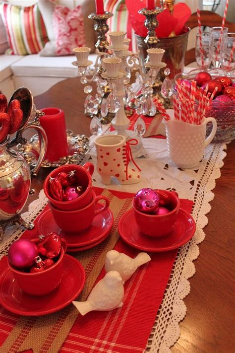 valentines day table table setting valentines decorations ideas