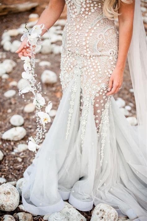 Wedding Dresses Island by A Mermaid Inspired Wedding Dress For An Island Wedding By