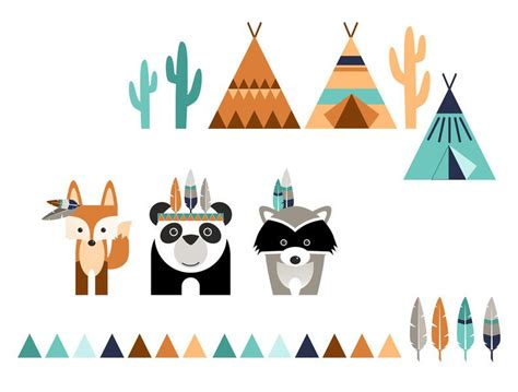 kinderzimmer deko indianer wandtattoos wandtattoo indianer ein designerst 252 ck