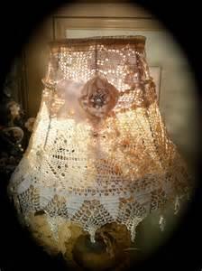 shabby chic crochet lshade doily l shade gorgeous elegance