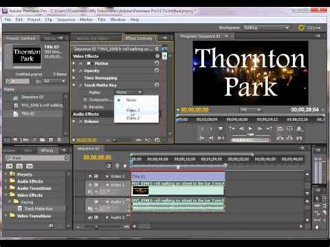 adobe premiere cs6 masking how to make a vignette track matte in premiere pro and