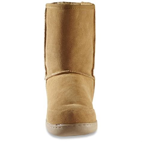 guide gear s 10 quot suede boot slippers 77189 slippers