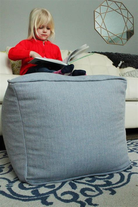 diy pouf ottoman diy pouf ottoman cube floor view home decorating trends