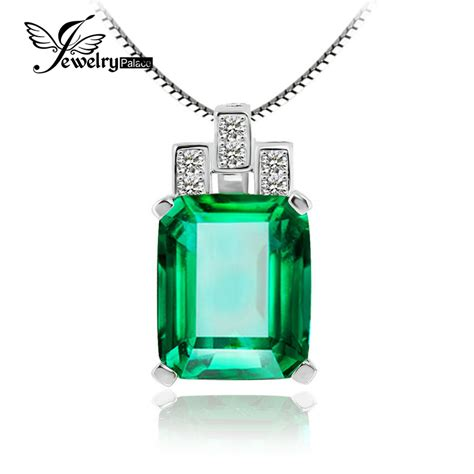 Kalung Liontin Silver 925 Plated Pendant Free Liontin 4 aliexpress buy jewelrypalace luxury 6ct created emerald pendant 925 sterling silver