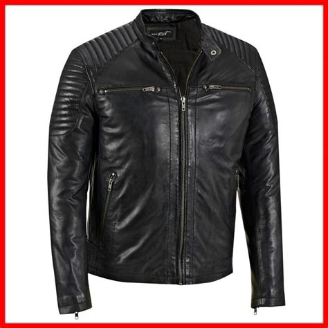 2015 black pu leather jacket with belt and ykk zipper for